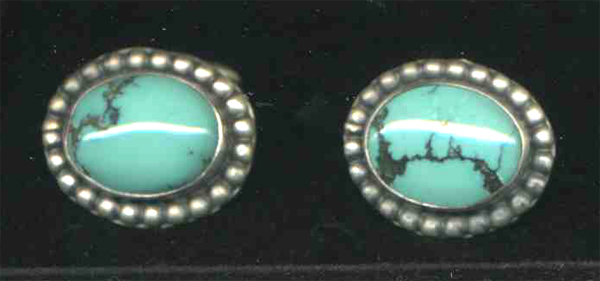 Turquoise Oval Cuff Links